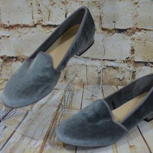 Liz Claiborne Gray Velour Velvet Loafers